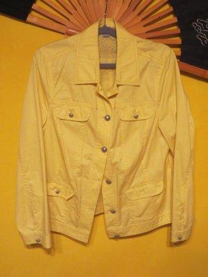 Erfo Jersey Blazer amarillo Algodón