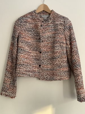 H&M Tweed Blazer pink-blue