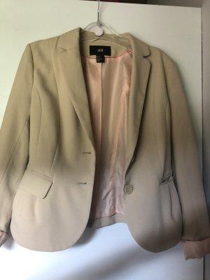 H&M Blazer corto rosa pallido-crema
