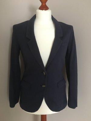 H&M Knitted Blazer dark blue-beige