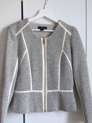 H&M Jersey Blazer light grey-cream