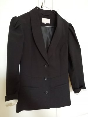 H&M Jersey Blazer black-white polyester