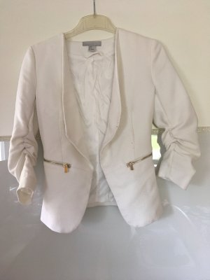 H&M Knitted Blazer white