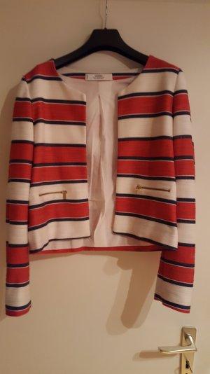blazer von Mango gesteift rot/ weiss