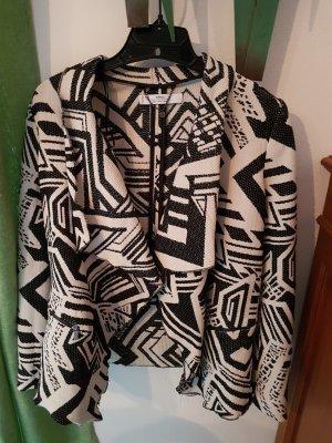 Mango Suit Blazer in maglia bianco-nero
