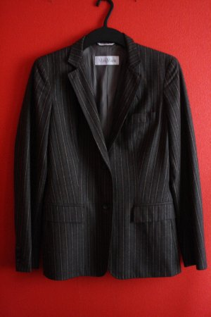 Max Mara Wool Blazer dark grey-pink wool