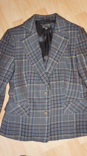 Blazer von Mexx Gr. 38 blaugrau kariert - wunderschön - 96% Wolle - NEU!