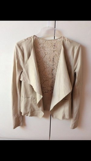Only Leather Blazer oatmeal