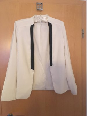 Promod Blazer de esmoquin negro-blanco
