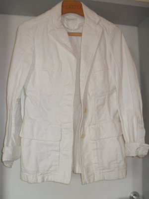 René Lezard Long Blazer natural white cotton