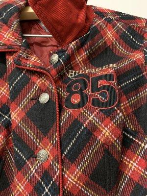 Hilfiger Denim Wool Blazer dark red-dark blue