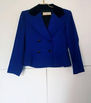 Yves Saint Laurent Blazer zwart-blauw Wol