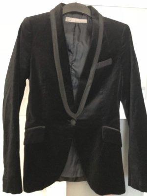 Zara Woman Veste de smoking noir