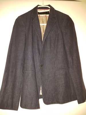 Zara Basic Denim Blazer dark blue