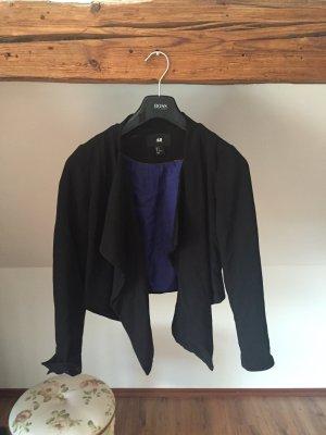 Blazer Wasserfall Jacke Jäckchen schwarz Business edel 36 38 S M Kostüm