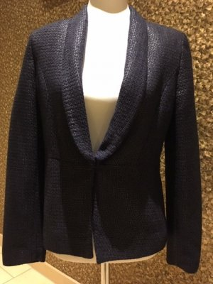 WE Fashion Blazer corto azul oscuro tejido mezclado