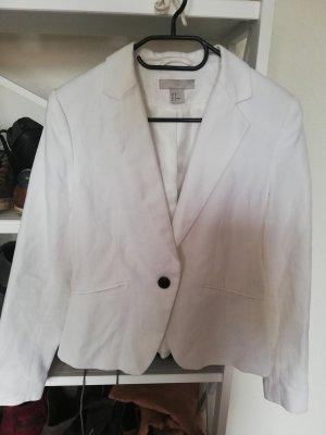 H&M Blazer in jersey bianco-bianco sporco Lino