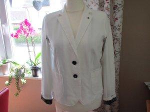 Blonde No. 8 Short Blazer white cotton