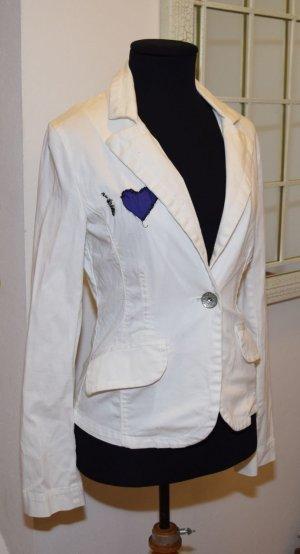 Amisu Blazer largo blanco Algodón