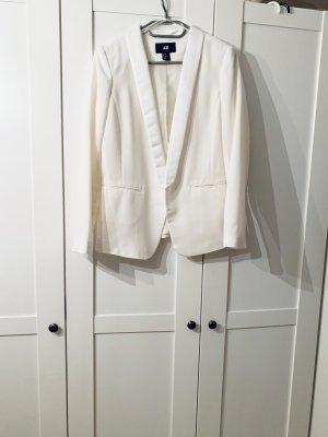 H&M Blazer de esmoquin blanco