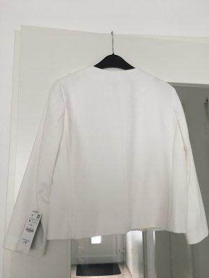 Zara Blazer court blanc-gris clair