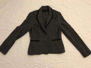 Edc Esprit Blazer en laine gris-noir laine