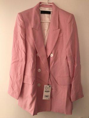 Zara Blazer blanc-rose