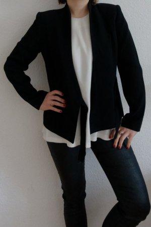 Zara Veste de smoking noir polyester