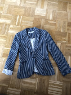 Zara Basic Wool Blazer azure-natural white