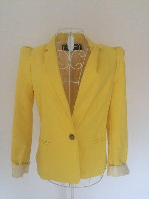 Zara Blazer jaune tissu mixte