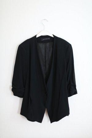 Blazer Zara mit geshoppten Ärmeln schwarz 1x getragen wie neu Gr. M