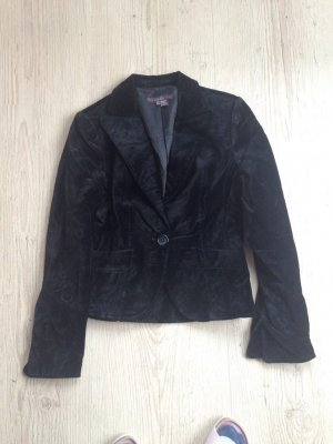 Blazer Zara Samt schwarz Gr L Neupreis 199€