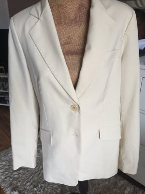 Zara Woman Knitted Blazer cream-oatmeal