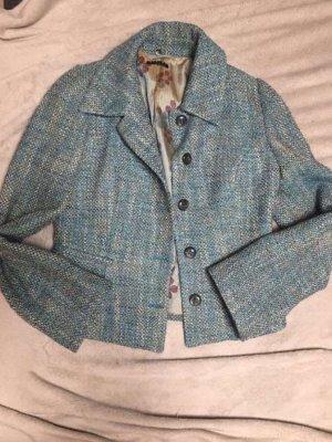 Sisley Knitted Blazer petrol-light blue