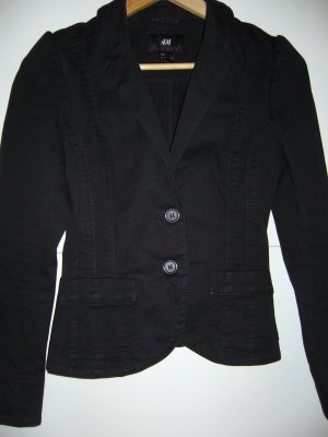 Blazerjacke denimartig schwarz H&M XS 34