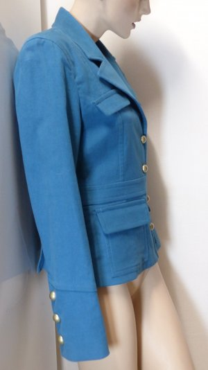 Fairly Pea Jacket turquoise-cadet blue cotton