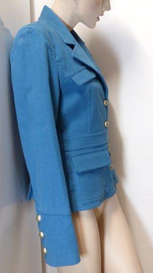 Fairly Chaqueta de marinero turquesa-azul cadete Algodón