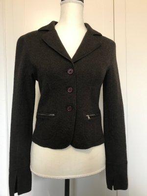 Strenesse Blue Wool Blazer dark brown new wool