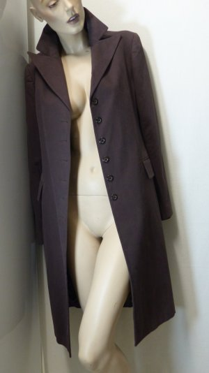 Prego Frock Coat dark brown cotton