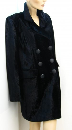 Heavy Pea Coat black mixture fibre
