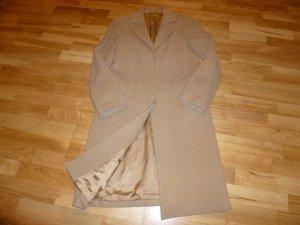United Colors of Benetton Wollen jas zandig bruin Gemengd weefsel