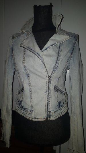 Bleached Jeans Jacke