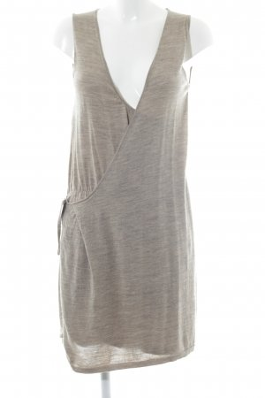 Bleifrei A-Linien Kleid grüngrau meliert Boho-Look