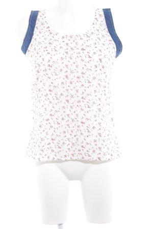 Bleifrei ärmellose Bluse Blumenmuster Casual-Look
