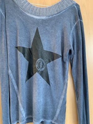 Bleifrei Camicia lunga blu-nero