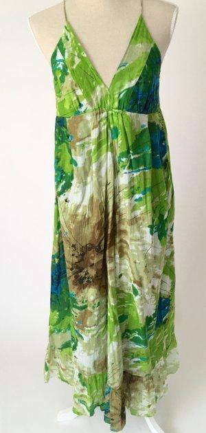 * Bleifrei * Maxikleid Sommerkleid Kleid M 38 grün blau sommer boho hippie festival