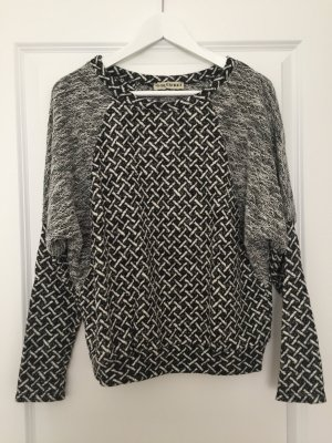 Bleifrei Gebreide trui zwart-wit