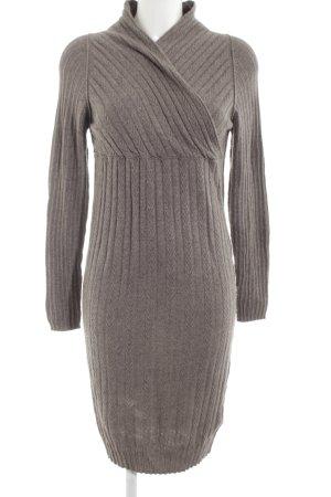 Bleifrei Pulloverkleid braun Casual-Look