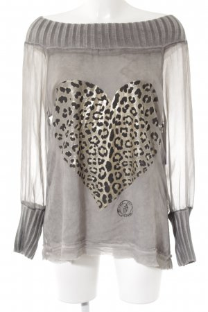 Bleifrei Off-The-Shoulder Top leopard pattern casual look