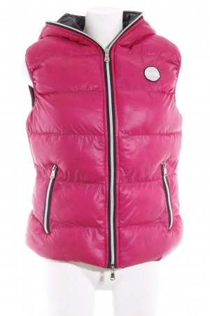Bleifrei Steppweste pink-schwarz Casual-Look